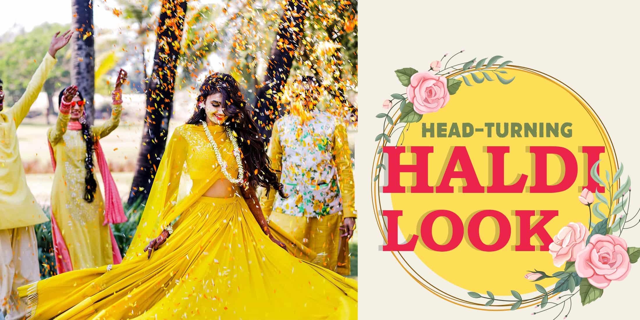 Best Haldi Dresses for Brides 2020 - Haldi Outfits for bridesmaids