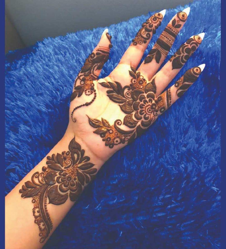 best arabic mehndi design front hand