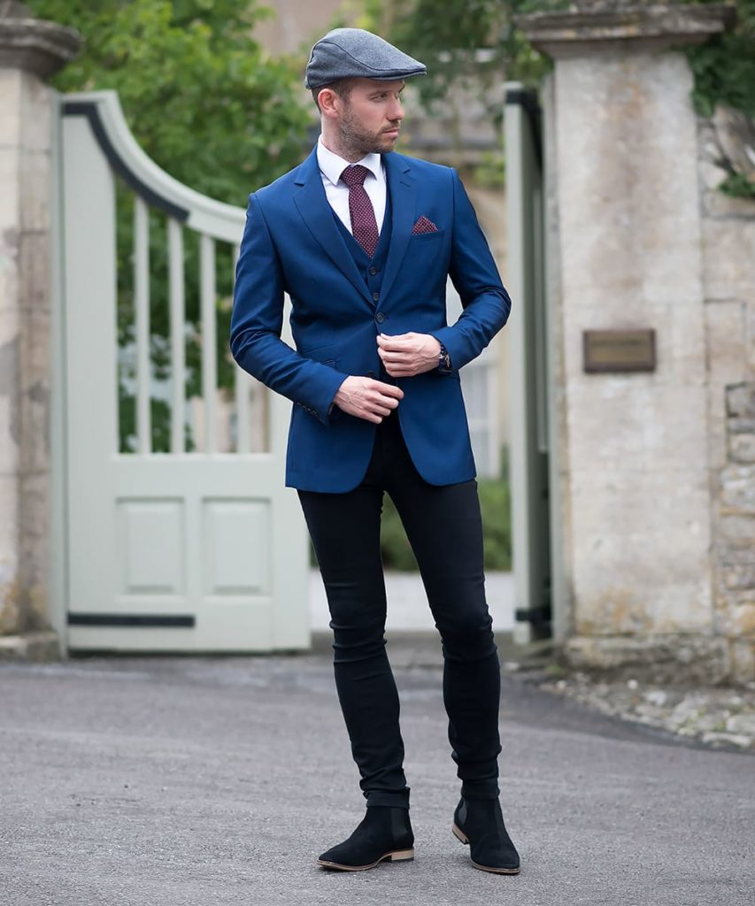 Black Jeans with Blue Blazer Combination