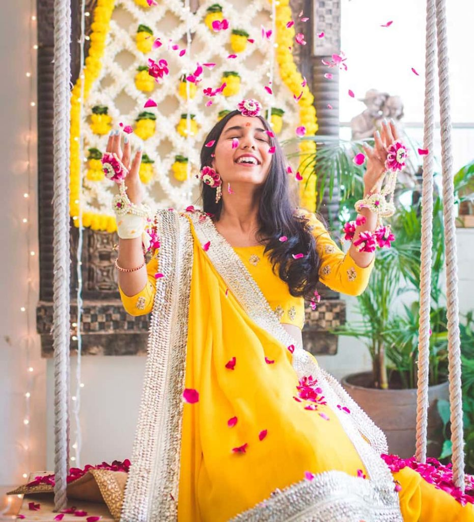 Haldi Dresses for Brides 2020 - Haldi Outfit