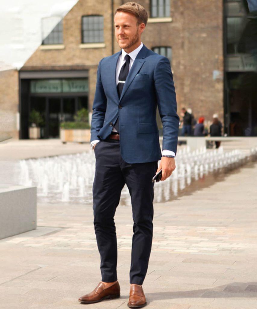 10 Navy Blue Blazer Combination | Blue Blazer Style