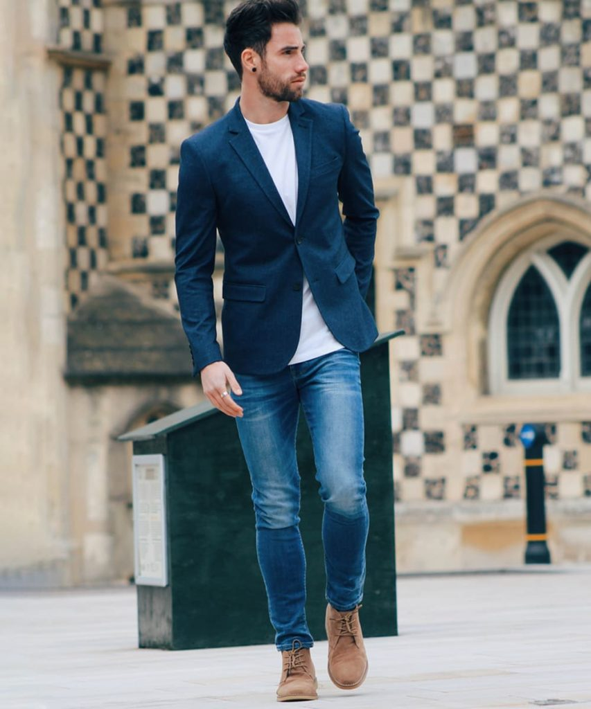 Navy Blue Blazer Combination with Jeans
