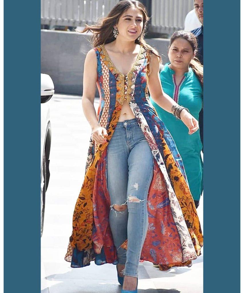 High-Slit Kurti With Jeans