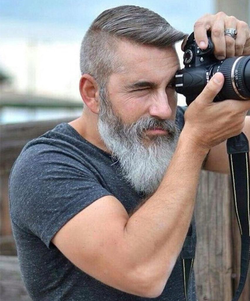 White Beard Style for Men