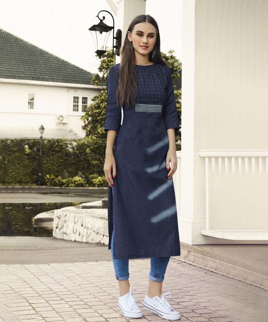 Denim Jeans And Kurti - Jeans Kurti Design